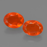 thumb image of 0.7ct Oval Facet Orange Fire Opal (ID: 454545)