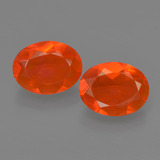 thumb image of 1.4ct Oval Facet Orange Fire Opal (ID: 454546)