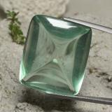 thumb image of 54.9ct Cushion Shape Sugarloaf Cabochon Green Fluorite (ID: 472711)