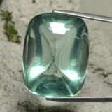 thumb image of 62.4ct Cushion Shape Sugarloaf Cabochon Bluish Green Fluorite (ID: 472813)