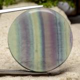 thumb image of 54.4ct Round Cabochon Multicolor Fluorite (ID: 486588)
