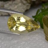 thumb image of 4.3ct Pear Facet Yellow Golden Beryl (ID: 352873)
