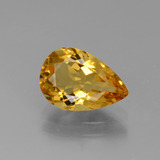 thumb image of 1.7ct Pear Facet Yellow Golden Golden Beryl (ID: 436585)