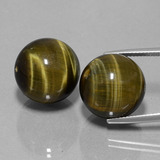 thumb image of 53.9ct Drilled Sphere Multicolor Hawk's Eye (ID: 422940)