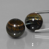 thumb image of 39.6ct Drilled Sphere Multicolor Hawk's Eye (ID: 422942)