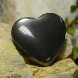 thumb image of 23.9ct Heart Cabochon Black Gray Hematite (ID: 273232)