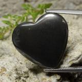 thumb image of 23ct Heart Cabochon Black Gray Hematite (ID: 273234)