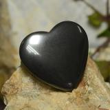 thumb image of 23.7ct Heart Cabochon Black Gray Hematite (ID: 273240)