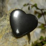 thumb image of 23.4ct Heart Cabochon Black Gray Hematite (ID: 273242)