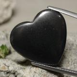 thumb image of 23.7ct Heart Cabochon Black Gray Hematite (ID: 322391)