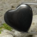 thumb image of 23.1ct Heart Cabochon Black Gray Hematite (ID: 322394)
