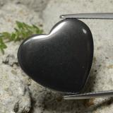 thumb image of 23.3ct Heart Cabochon Black Gray Hematite (ID: 322397)