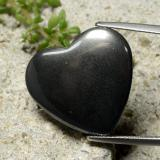 thumb image of 23.6ct Heart Cabochon Black Gray Hematite (ID: 322574)
