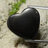 thumb image of 22.9ct Heart Cabochon Black Gray Hematite (ID: 322575)