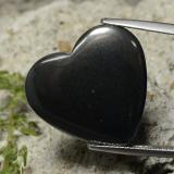 thumb image of 23.5ct Heart Cabochon Black Gray Hematite (ID: 322578)