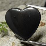 thumb image of 23.3ct Heart Cabochon Black Gray Hematite (ID: 322579)
