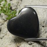 thumb image of 23.6ct Heart Cabochon Black Gray Hematite (ID: 322580)