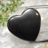thumb image of 23.5ct Heart Cabochon Black Gray Hematite (ID: 470981)