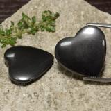 thumb image of 46.3ct Heart Cabochon Black Gray Hematite (ID: 470982)