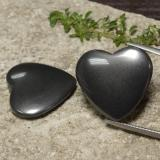 thumb image of 46.3ct Heart Cabochon Black Gray Hematite (ID: 470983)
