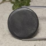 41.40 ct Round Cabochon Dark Gray Hematite Gem 23.21 mm  (Photo B)