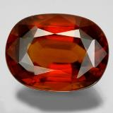 thumb image of 22.8ct Oval Facet Cinnamon Orange Hessonite Garnet (ID: 333382)