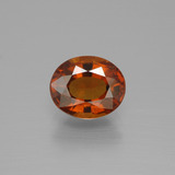 thumb image of 2.4ct Oval Facet Cinnamon Orange Hessonite Garnet (ID: 390466)