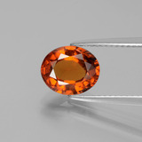 thumb image of 2.2ct Oval Facet Cinnamon Orange Hessonite Garnet (ID: 390581)