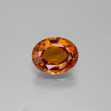thumb image of 1.7ct Oval Facet Cinnamon Orange Hessonite Garnet (ID: 390926)