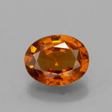 thumb image of 1.4ct Oval Facet Cinnamon Orange Hessonite Garnet (ID: 390980)