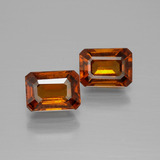 thumb image of 2.5ct Octagon Facet Cinnamon Orange Hessonite Garnet (ID: 391927)