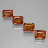 thumb image of 1.3ct Octagon Facet Medium Orange Hessonite Garnet (ID: 391938)