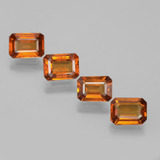 thumb image of 0.9ct Octagon Facet Deep Orange Hessonite Garnet (ID: 392145)
