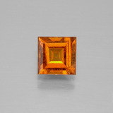 thumb image of 1.1ct Square Facet Cinnamon Orange Hessonite Garnet (ID: 392836)