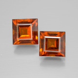 thumb image of 3.8ct Square Facet Cinnamon Orange Hessonite Garnet (ID: 392986)