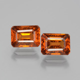 thumb image of 2.8ct Octagon Facet Cinnamon Orange Hessonite Garnet (ID: 393738)