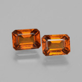 thumb image of 2.8ct Octagon Facet Cinnamon Orange Hessonite Garnet (ID: 393854)