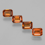 thumb image of 4.4ct Octagon Facet Cinnamon Orange Hessonite Garnet (ID: 393857)