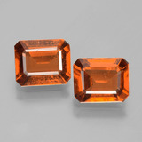 thumb image of 3.3ct Octagon Facet Cinnamon Orange Hessonite Garnet (ID: 393984)