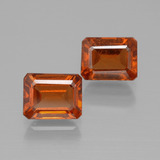 thumb image of 2.9ct Octagon Facet Cinnamon Orange Hessonite Garnet (ID: 394100)