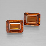 thumb image of 1.9ct Octagon Facet Cinnamon Orange Hessonite Garnet (ID: 394102)