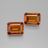 thumb image of 3.4ct Octagon Facet Cinnamon Orange Hessonite Garnet (ID: 394181)
