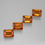 thumb image of 1ct Octagon Facet Cinnamon Orange Hessonite Garnet (ID: 394276)