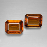 thumb image of 3.1ct Octagon Facet Cinnamon Orange Hessonite Garnet (ID: 394864)