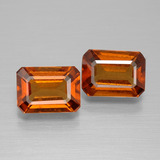 thumb image of 2.7ct Octagon Facet Cinnamon Orange Hessonite Garnet (ID: 394869)