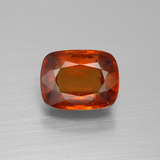 thumb image of 2.8ct Cushion-Cut Cinnamon Orange Hessonite Garnet (ID: 395259)