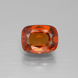 thumb image of 2.8ct Cushion-Cut Cinnamon Orange Hessonite Garnet (ID: 395264)