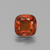 thumb image of 2.5ct Cushion-Cut Cinnamon Orange Hessonite Garnet (ID: 395830)