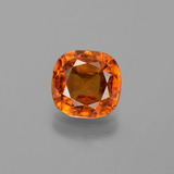 thumb image of 2.2ct Cushion-Cut Cinnamon Orange Hessonite Garnet (ID: 395940)