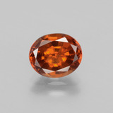 thumb image of 2.4ct Oval Facet Cinnamon Orange Hessonite Garnet (ID: 398819)